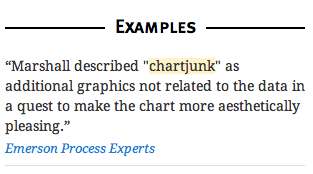 Example sentence for chartjunk